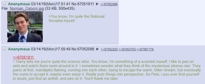 4chan norman osborne anthills joke