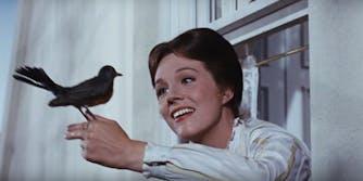 Mary Poppins with bird
