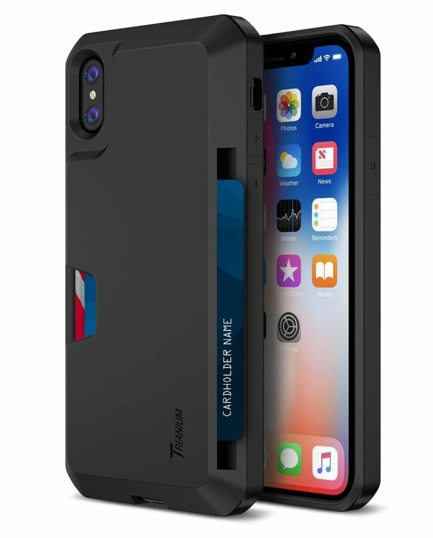 iphone x case trianium wallet