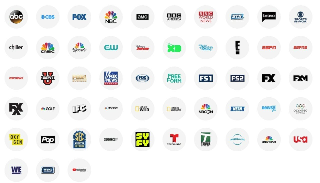 live tv streaming : youtube tv channels