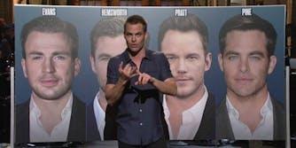 Chris Pine SNL monologue Hemsworth Pratt