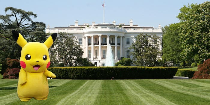 A man dressed in a Pikachu costume was arrested at the White House.