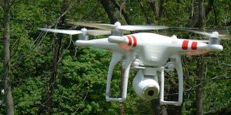 drone arizona firefighters prescott national forest
