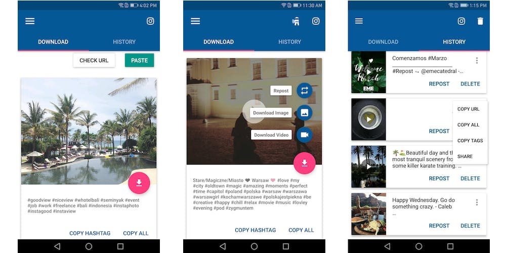 how to save instagram videos : Video Downloader Android app