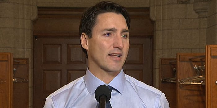 Justin Trudeau talks about Gord Downey