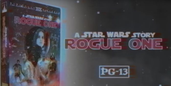 vhs trailer rogue one