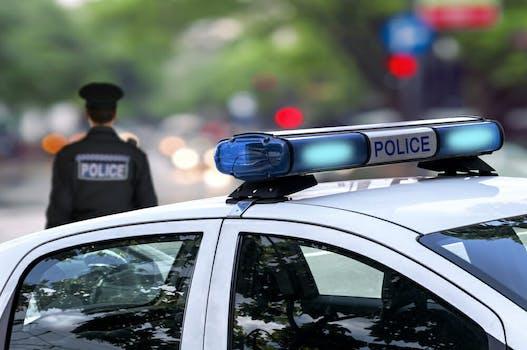 police car authorities cops