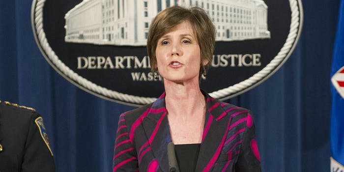 Deputy Attorney General of the United States Sally Q. Yates