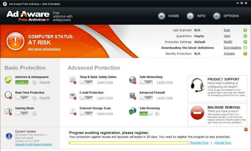 free adware removal : Adaware Free Antivirus+ is one of the best ways to get ride of those annoying adware toolbars