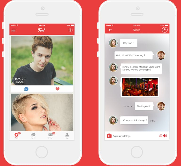 lesbian dating app : Fem