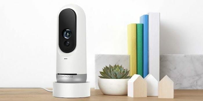 Lighthouse smart home camera on shelf