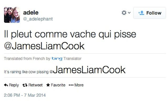 Harry Potter tweet French