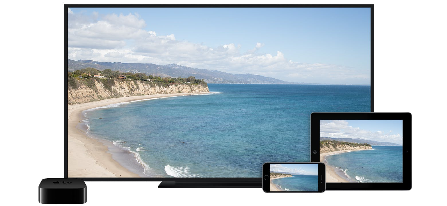 TV and iOS devices using AirPlay