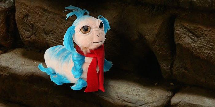 Labyrinth worm plush toy