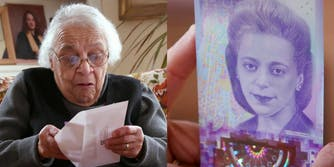 Viola Desmond's sister Wanda Robson sees Desmond on Canada's $10 note for the first time.