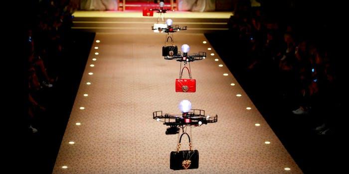 dolce and gabbana drone handbag at milan fashion week
