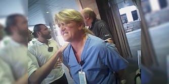 Body camera footage of nurse Alex Wubbels and Detective Jeff Payne