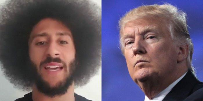 Donald Trump Colin Kaepernick