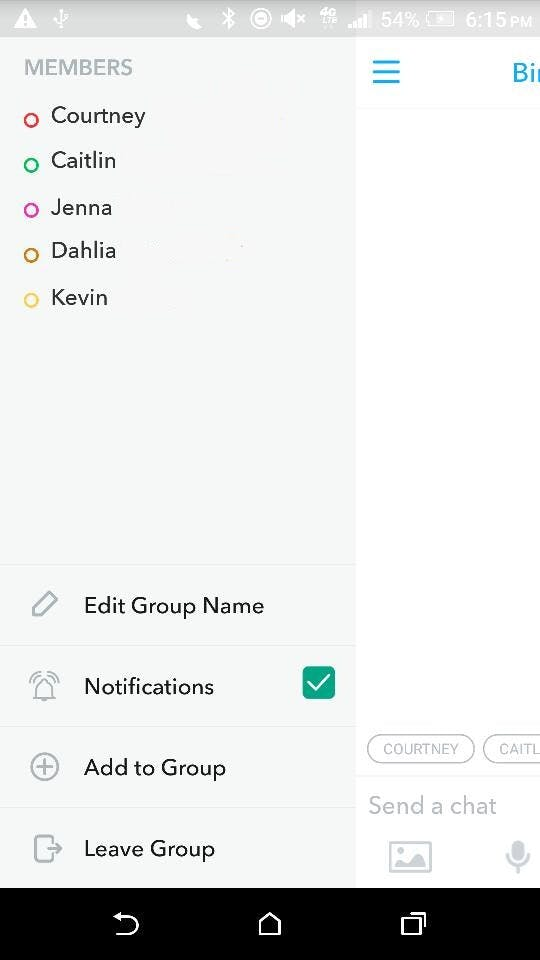 how to create a group on snapchat