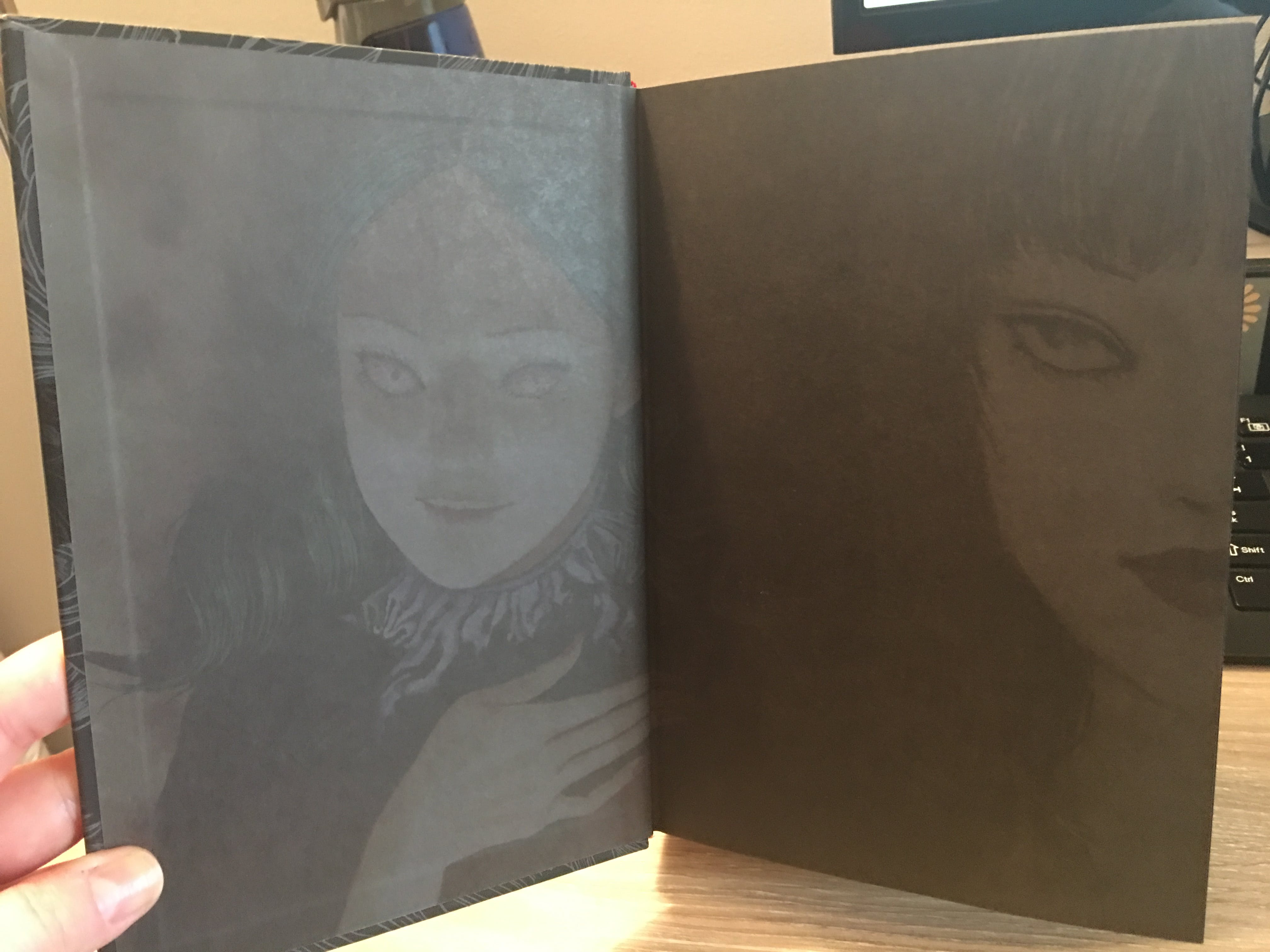 Even the black pages have a beautiful (and creepy) touch.