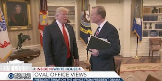 Donald Trump and Chris Dickerson in the White House