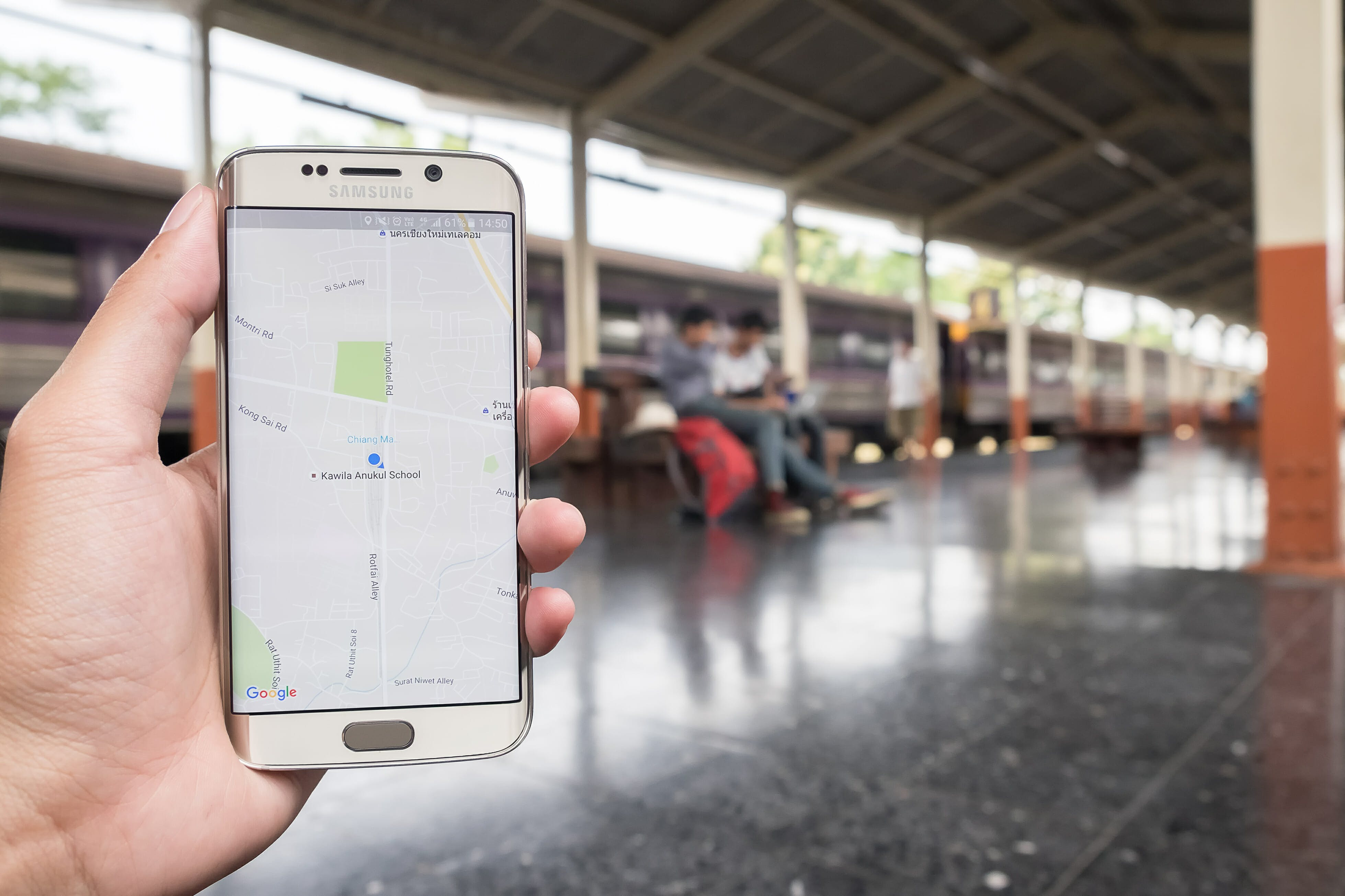 samsung galaxy s6 edge with Google Maps