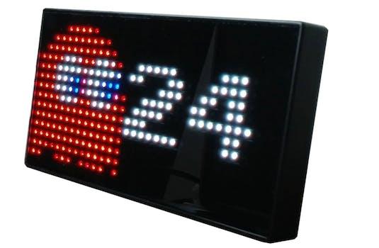 pac-man digital clock