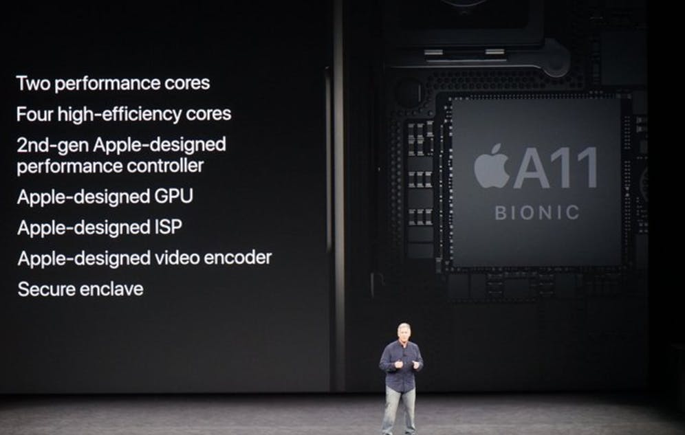 apple a11 soc system of a chip processor unit