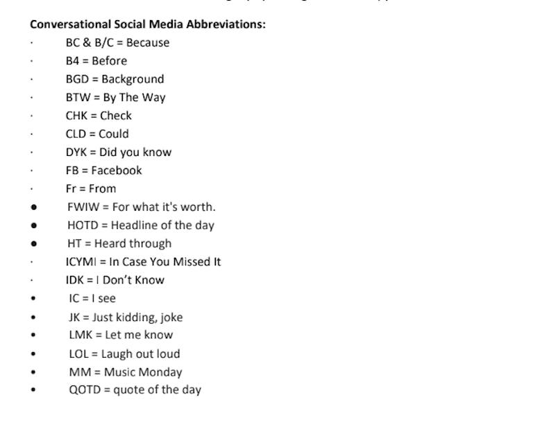 fcc social guidelines