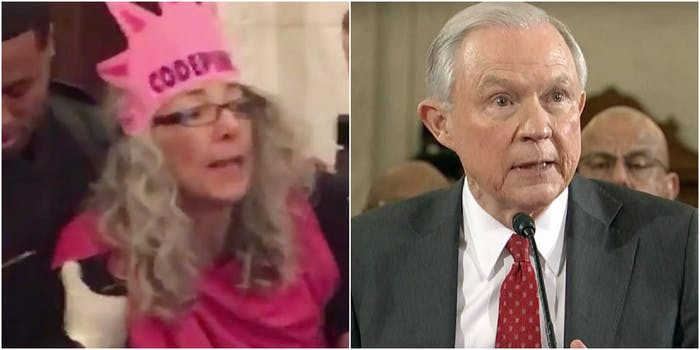 Desiree Fairooz and Jeff Sessions