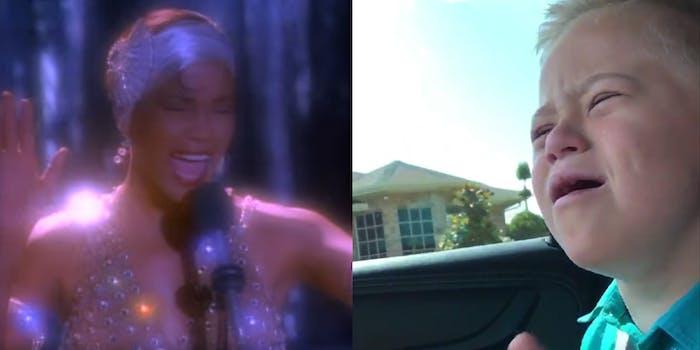 """Whitney Houston and Dane Miller, singing """"I have nothing"""""""