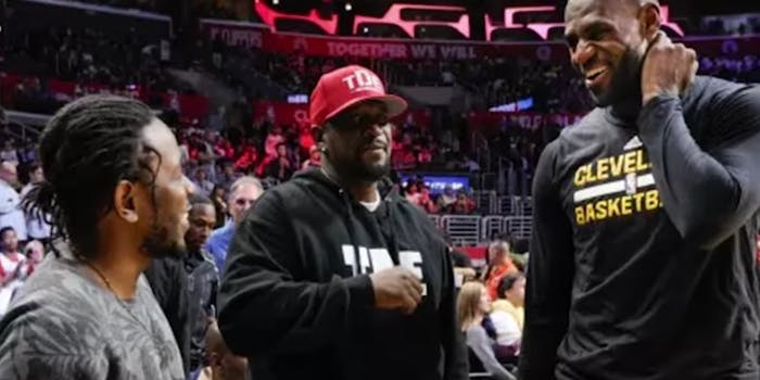 Lebron with Kendrick