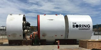 elon musk the boring company tunneling machine