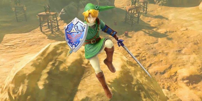 Link Amiibo over Breath of the Wild