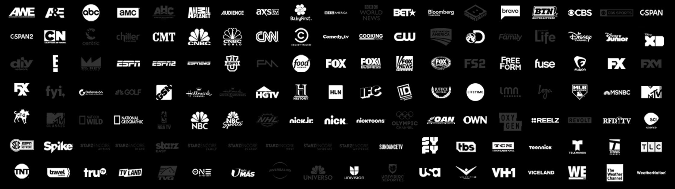 directv now channels for the just right package