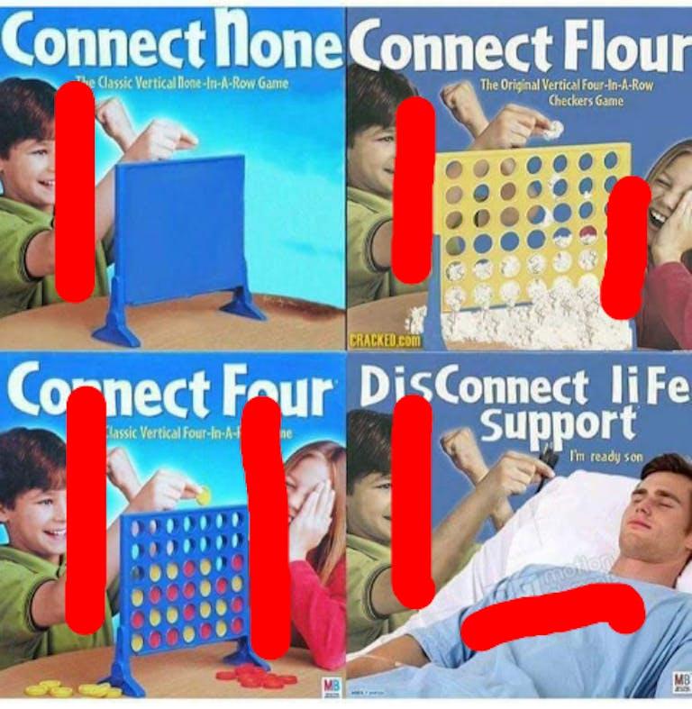 Connect 4 loss meme explainer