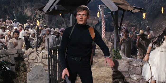 Roger Moore as James Bond in Live and Let Die