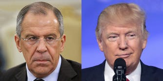 Sergey Lavrov and Donald Trump