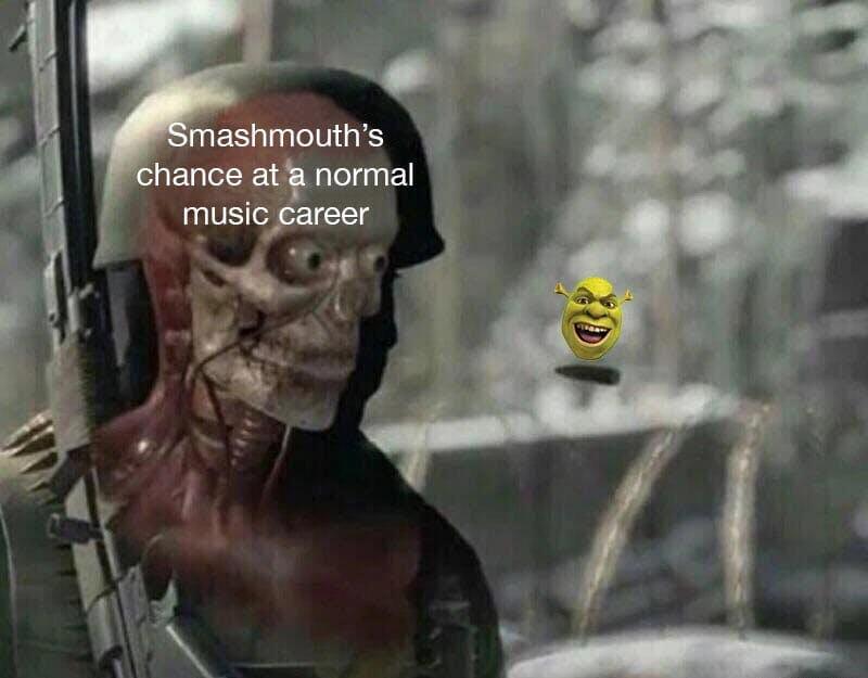bullet meme smash mouth and shrek