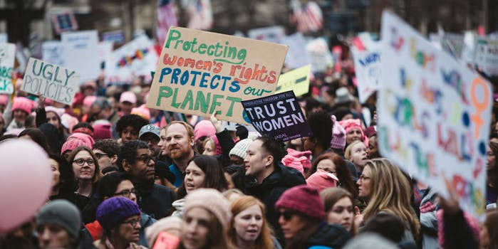 women's march, protest