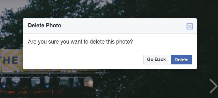 how do i delete photos from facebook