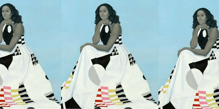 Former First Lady Michelle Obama's official portrait.