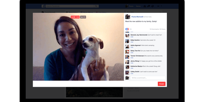 Facebook Live from computer