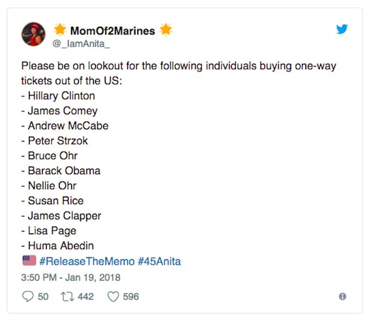 release the memo