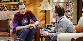 Sheldon and Leonard from the Big Bang Theory bitcoin episode