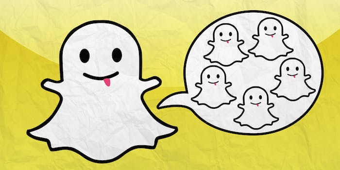How to use Snapchat: An illustration for Snapchat groups
