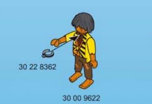 Playmobil pirate slave figurine