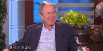 George W Bush on Ellen