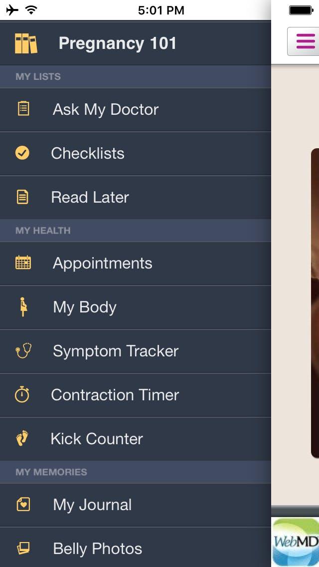 best pregnancy apps: WebMD Pregnancy