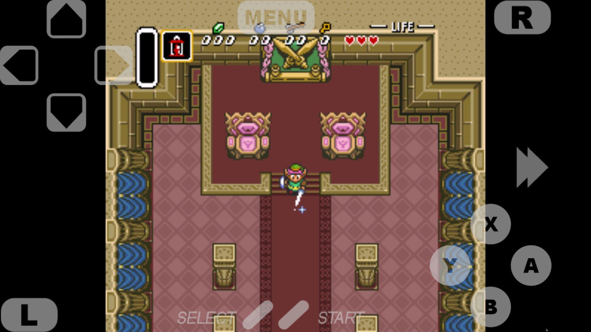 """""""The Legend of Zelda: ALttP"""" emulated on SuperLegacy16"""